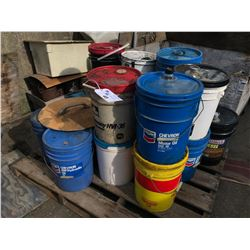 PALLET OF ASSORTED OILS/LUBRICANT, CONTENTS MAY VARY FROM PICTURE