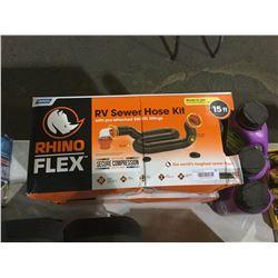 Rhino Flex RV Sewer Hose Kit 15ft