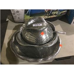 ArthurCourt Designs - Aluminum Plate and Bowl Service Set