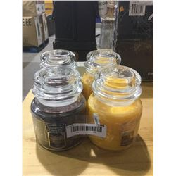 Yankee Candle Honey Crisp Apple Cider and Enchanted Moon Lot of 4