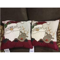 Christmas Throw Pillow Lot of 2