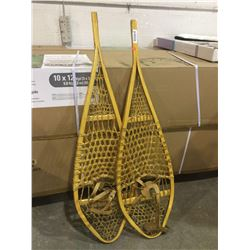 Traditional Hand Made Wooden Snowshoes 14x48 inch