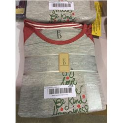 Ellen Degeneres Youth Knit Tee and Fleece Pajama Set Grey - Youth Small Size 4-6