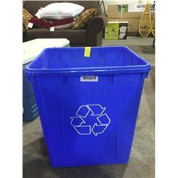 Blue Recycling Bin