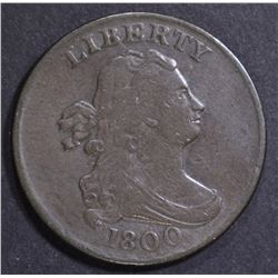 1800 HALF CENT VF