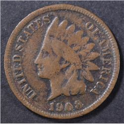 1908-S INDIAN CENT VG