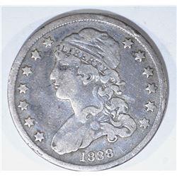 1838 BUST QUARTER, VF