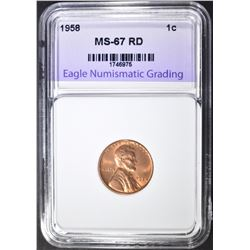1958 LINCOLN CENT ENG SUPERB GEM BU RED