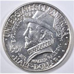 1937 ROANOKE COMMEM HALF DOLLAR  GEM BU