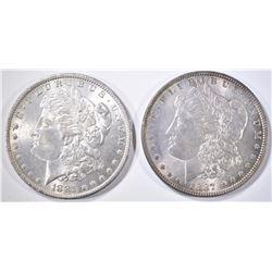 1885-O & 87 MORGAN DOLLARS  CH/GEM BU
