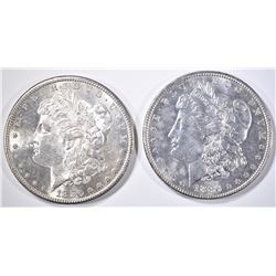 1880-S & 86 MORGAN DOLLARS  CH/GEM BU