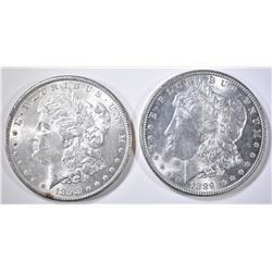 1889 & 98 MORGAN DOLLARS  CH BU