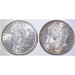 1881-O & 82-S MORGAN DOLLARS  CH BU