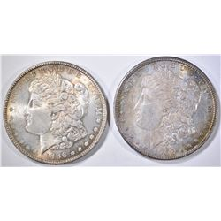 1886 & 1902-O MORGAN DOLLARS  CH BU COLOR