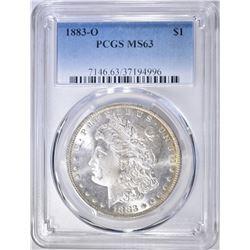 1883-O MORGAN DOLLAR  PCGS MS-63