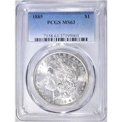 1885 MORGAN DOLLAR   PCGS MS-63