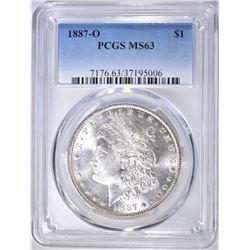1887-O MORGAN DOLLAR  PCGS MS-63