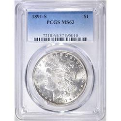 1891-S MORGAN DOLLAR  PCGS MS-63