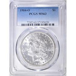 1904-O MORGAN DOLLAR  PCGS MS-63
