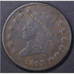 1811/10 LARGE CENT  XF DARK