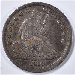 1839 SEATED LIBERTY DIME   XF/AU