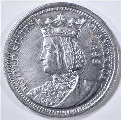 1893 ISSABELLA QUARTER   AU/BU