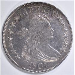 1807 DRAPED BUST HALF DOLLAR  AU/BU