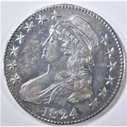 1824 BUST HALF DOLLAR   CH AU