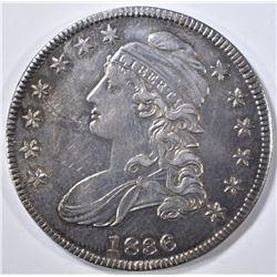 1836 BUST HALF DOLLAR   AU/BU  SCRATCH OBV