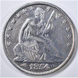 1854-O ARROWS SEATED LIBERTY HALF DOLLAR  AU/BU