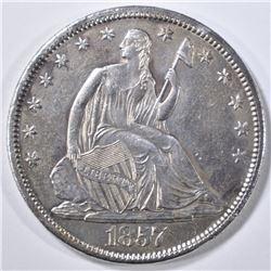 1857-S SEATED LIBERTY HALF DOLLAR  AU/BU