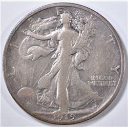 1919-S WALKING LIBERTY HALF DOLLAR  FINE