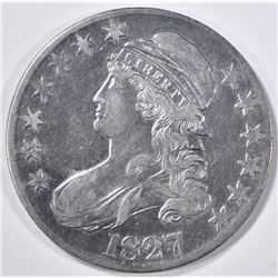 1827 BUST HALF DOLLAR XF