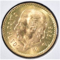1955 MEXICO 5 PESO GOLD