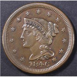 1846 LARGE CENT  CH BU