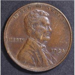1924-D LINCOLN CENT   CH AU