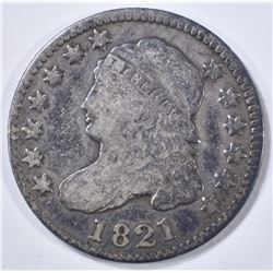 1821 BUST DIME  VG