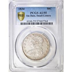 1834 BUST HALF DOLLAR PCGS AU-55