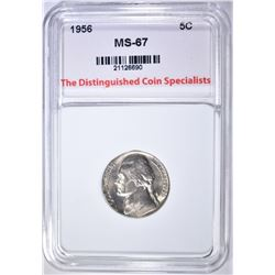 1956 JEFFERSON NICKEL, TDCS SUPERB GEM BU