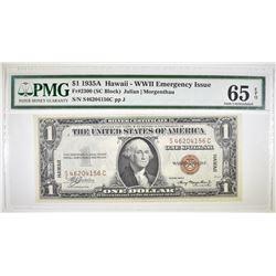 1935A $1 SIVER CERTIFICATE HAWAII   PMG 65 EPQ