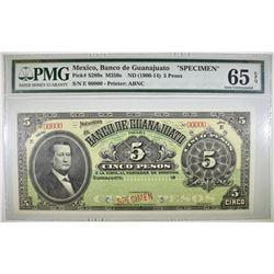 1900-14 5 PESOS PMG 65 EPQ