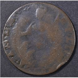 1786 CONNECTICUT CENT HERCULES HEAD   F+