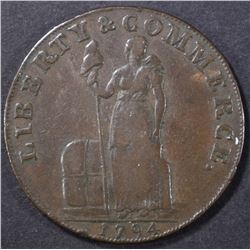 1794 TALBOT, ALLUM & LEE CENT W/ NEW YORK  XF