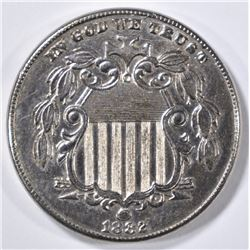 1882 SHIELD NICKEL  CH BU