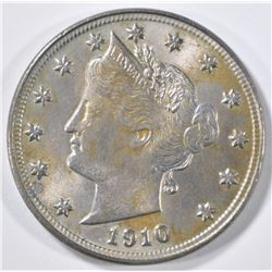 1910 LIBERTY NICKEL  CH UNC