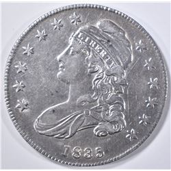 1835 BUST HALF DOLLAR  CH AU
