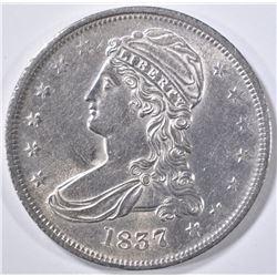1837 BUST HALF DOLLAR REED EDGE  CH BU