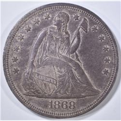 1868 SEATED LIBERTY DOLLAR  ORIG UNC