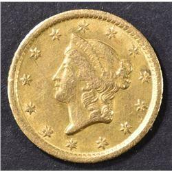 1852-O $1 GOLD LIBERTY  AU