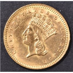 1862 $1 GOLD INDIAN PRINCESS  CH/GEM BU